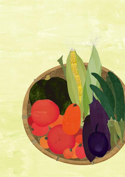 野菜だより イラストレーション