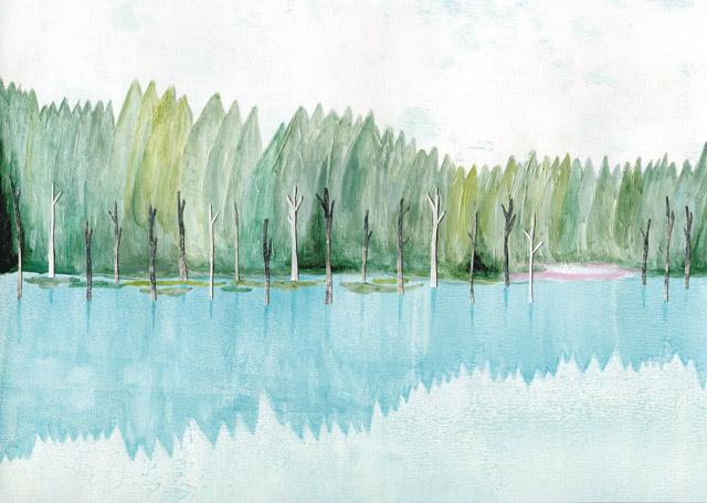 湖で 手紙舎