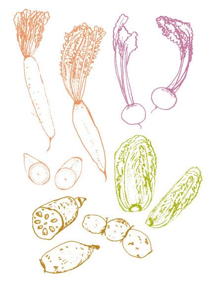 野菜線画 イラスト